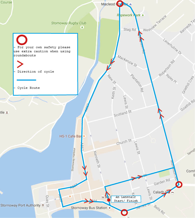 Harris Tweed Cycle Route Map